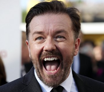 LONDON, ENGLAND - MAY 27:  Ricky Gervais attends The 2012 Arqiva British Academy Television Awards at the Royal Festival Hall on May 27, 2012 in London, England.  (Photo by Tim Whitby/Getty Images)