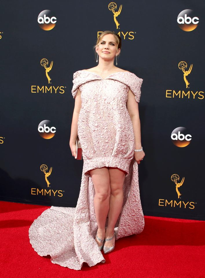 Actress Anna Chlumsky arrives at the 68th Primetime Emmy Awards in Los Angeles