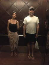 "The mirrored elevator always had us checking our posture. As we called it ""doing the colleen."""