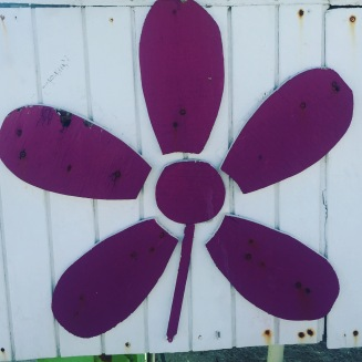 I love a flower. This was on a lifeguard chair.