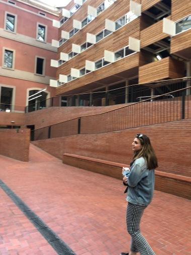 Ally showing us Pompeau Fabra University, her school.
