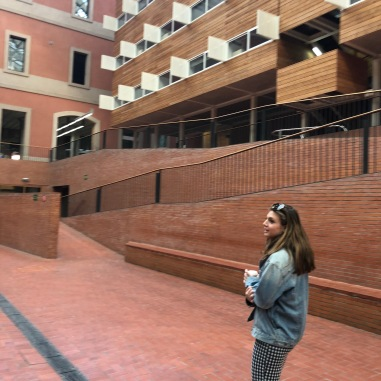 Ally showing us Pompeau Fabra University, her school.