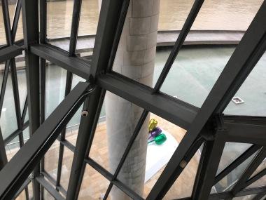Interior shot of the Guggenheim.