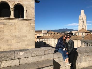 Looking out over Girona.