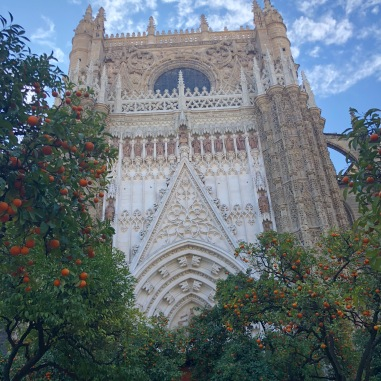 Back of the Sevilla Cathedral.