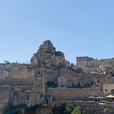 Rupestrian churches dot Matera. Carved into stone.