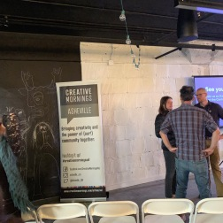 Creative Mornings is something I'm happy to know about because there is one here.