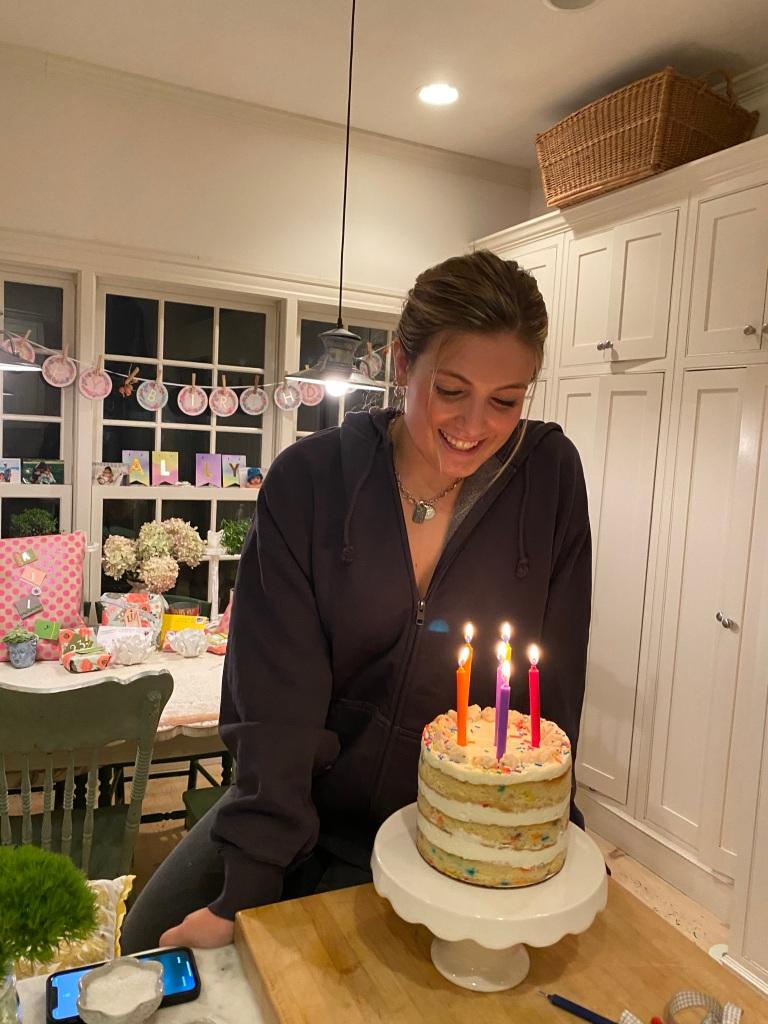 Ally's gluten free funfetti cake. 23!